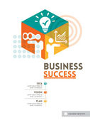 Cubic Business Success concept background design layout for post — Stock Vector