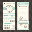 Vintage style Boarding Pass Ticket Wedding Invitation Template V — Stock Vector #44116333