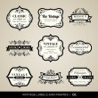 Vintage labels and frames — Stock Vector #44206265