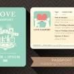 Passport Wedding Invitation — Stock Vector #44727605