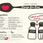 Постер, плакат: Recipe for Love creative Wedding Invitation