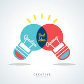 Best Idea Creative light bulb Concept Illustration — Stock Vector