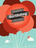 Birthday card design template — Stock Vector