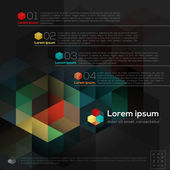 Geometric Abstract Design Layout — 图库矢量图片