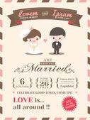 Wedding invitation card template — Stock Vector