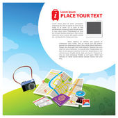 Travel Kits with Speech bubble Illustration — Stock Vector