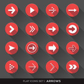 Arrow Sign Flat Icons Set — Stock Vector