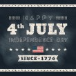 4th of july Independence day chalkboard background for card or p — Stock Vector #48592603