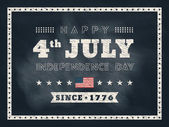 4th of july Independence day chalkboard background for card or p — Stock Vector