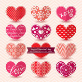 Valentine's day Heart Elements pattern — Stock Vector