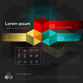 Geometric Abstract Design Layout — Stock Vector