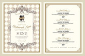 Vintage style restaurant menu design — Stockvektor