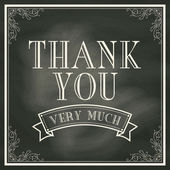 Thank You card with Chalkboard Background — Stock Vector