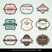 Vintage labels and frames — Vetorial Stock