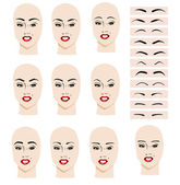 Eyebrow shape — Stock Vector