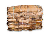 Bale of cardboard — Stock Photo