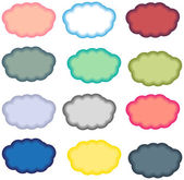 Colored clouds — Stock Vector