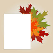 Esdoorn bladeren achtergrond — Stockvector