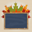 Maple leaves and grey chalkboard — Stock Vector #49518663