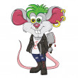 Mouse-punk cartoon character — Stock Vector #27580275
