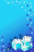 Blauwe achtergrond van Kerstmis — Stockvector