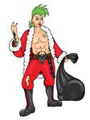 Santa Claus-Punk — Stock Vector