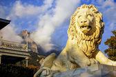 大理石狮子 — 图库照片