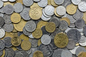 Closeup of different ukrainian coins — Stock Photo