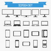 Set vettoriale delle diverse schermate — Vettoriale Stock