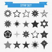 Vektor uppsättning olika abstrakta stjärnor — Stockvektor