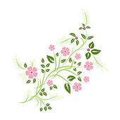 Colorful floral ornament element — Stock Vector