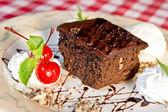 Brownie au chocolat — Photo