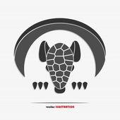 Abstract armadillo web icon — Stockvektor
