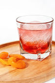 Apricot cocktail — Stock Photo