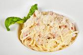 Pasta alla carbonara — Stock Photo