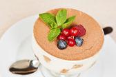 Tiramisu with berries — Stock Photo