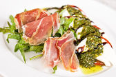 Caprese salad with parma ham — Stock Photo