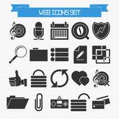 Basic web icons set — Stock Vector