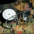 Old Pocket Watch With Old Glasses — Stock Photo