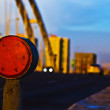 Stock Photo: Reflector on bridge