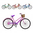 Set of bicycles. Vector illustration — Imagen vectorial