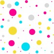 Abstract  white pattern with colorful  balls — Stock Vector