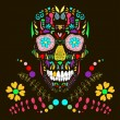 Skull with floral ornament 1.Vector illustration. — Stock Vector #28935341
