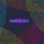 Autumnal seamless for card (vector eps 10) — Stock Vector
