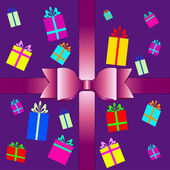 Vector set of colorful gift box symbols — Cтоковый вектор
