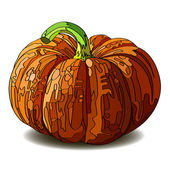 Halloween Pumpkin isolated on white. — Vector de stock