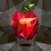 Vektör görüntü stili origami içinde elma. — Stok Vektör