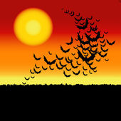 万圣节矢量背景与蝙蝠. — 图库矢量图片