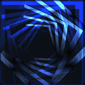 Fond bleu géométrique. vector — Vecteur