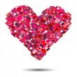 Vector heart  for Valentine's Day design. — Imagen vectorial